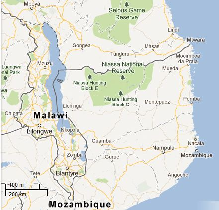 Picture: Map of Malawi