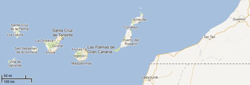 Picture: Map of Canary Islands
