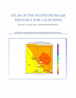 Picture of the cover: Atlas of the Water-from-air Resource for California