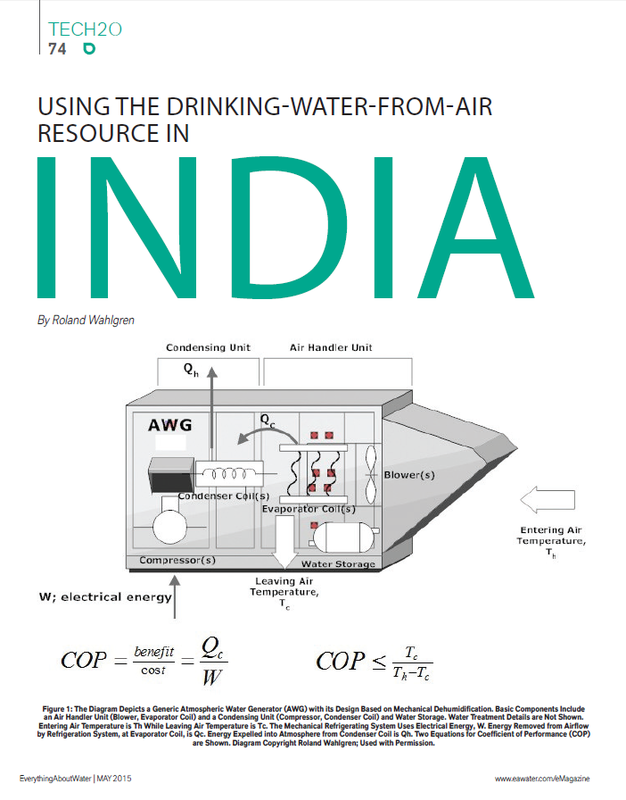 Picture of first page of article, Using the Drinking-Water-from-Air Resource in India