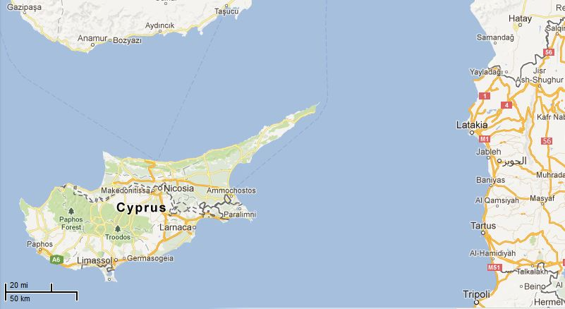 Picture: Map of Cyprus