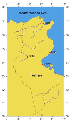 Tunisia location map