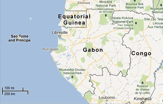 Picture: Map of Gabon