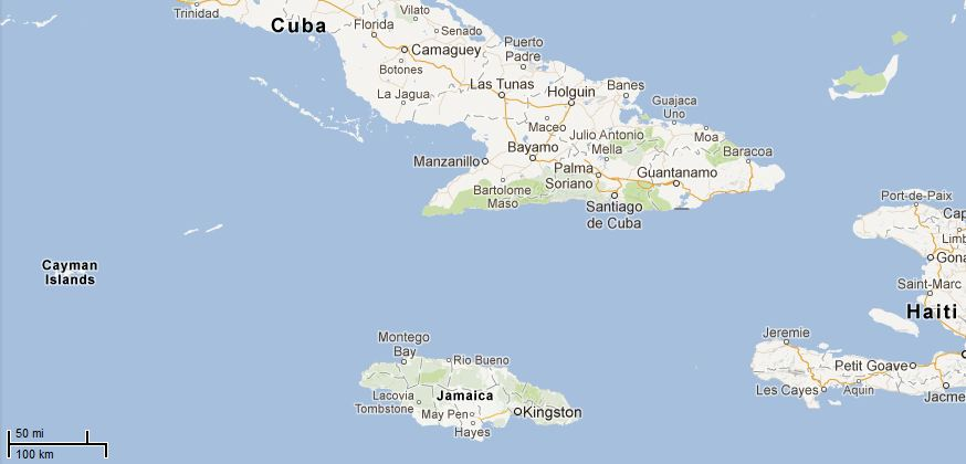 Picture: Map of Cayman Islands