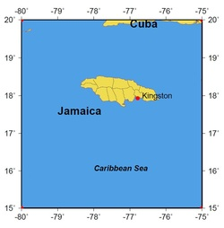 Jamaica location map