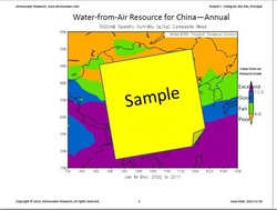 Sample page from the Atlas of the Water-from-Air Resource for China